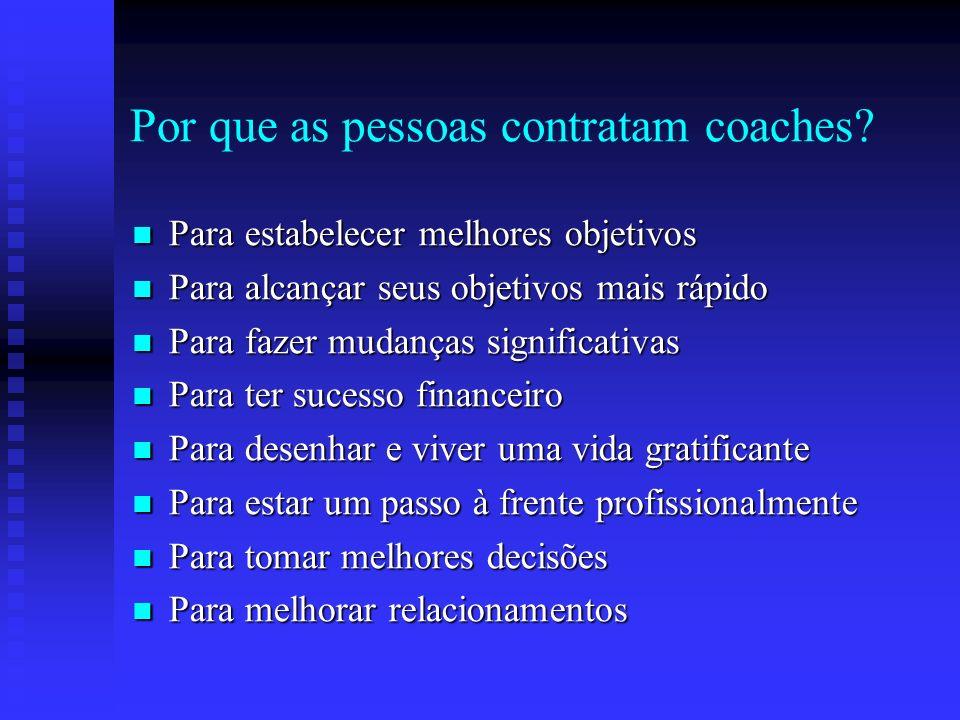 Os pressupostos do coaching Não há fracasso; apenas resultado Não há fracasso; apenas resultado Se você quiser entender, aja Se você quiser entender,