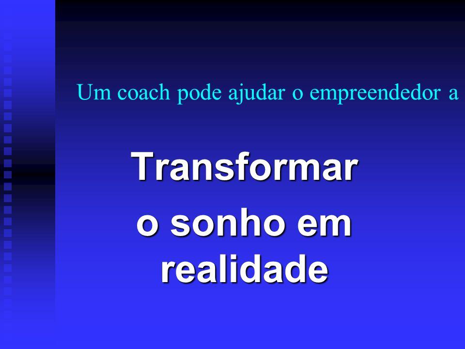 Um coach pode ajudar o empreendedor a: Enxergar o que não vê Enxergar o que não vê Ampliar seu campo de visão Ampliar seu campo de visão Agir para obt