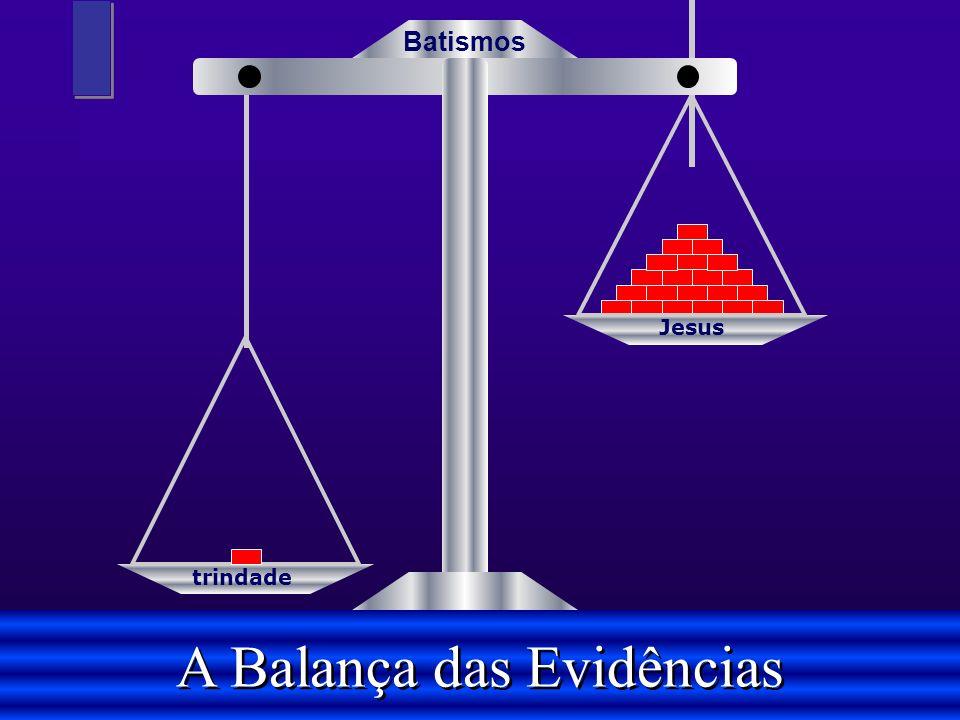 trindade Jesus A Balança das Evidências Batismos