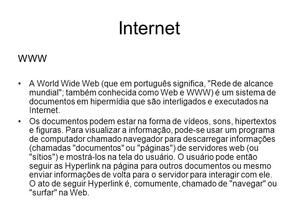 WWW A World Wide Web (que em português significa,