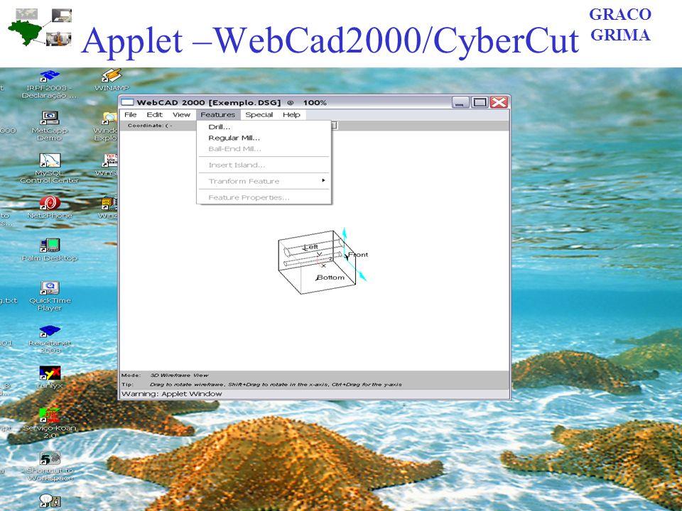 Applet –WebCad2000/CyberCut GRACO GRIMA