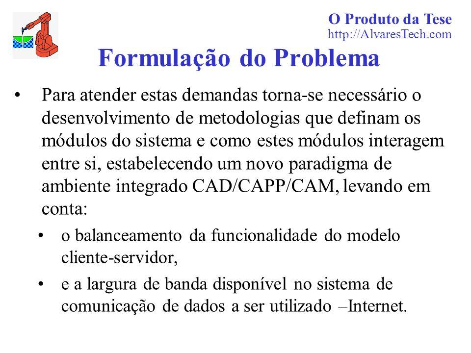 O Produto da Tese http://AlvaresTech.com Formulação do Problema Para atender estas demandas torna-se necessário o desenvolvimento de metodologias que