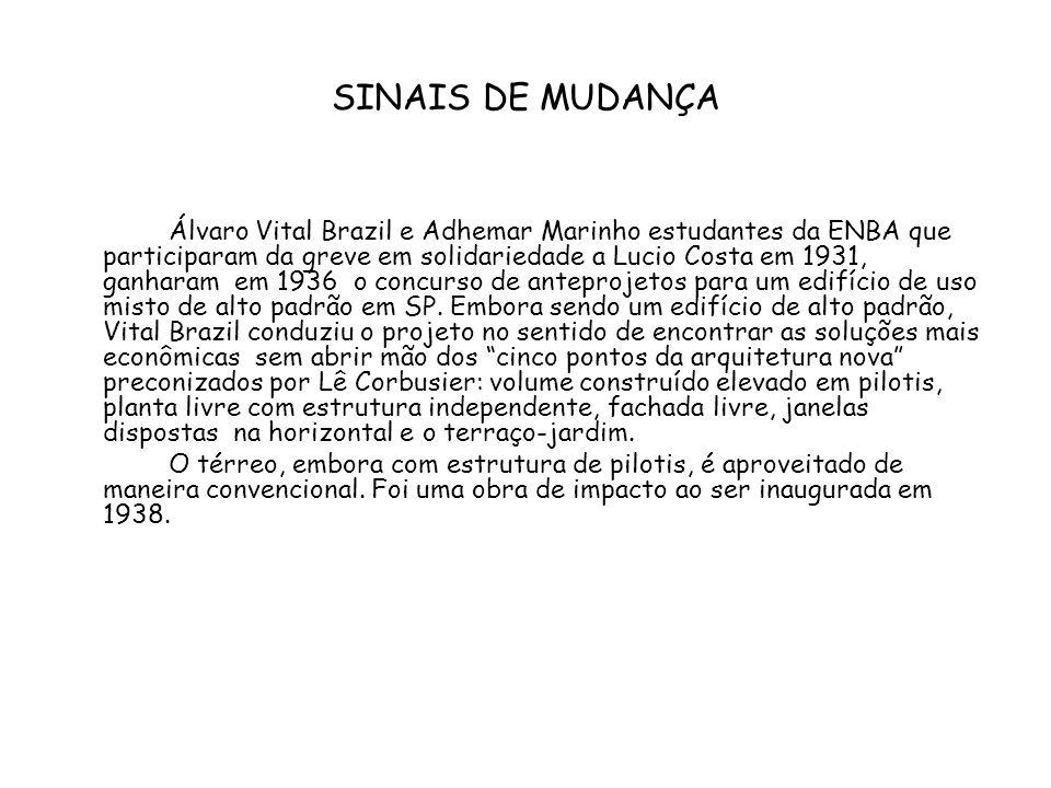 SINAIS DE MUDANÇA Álvaro Vital Brazil e Adhemar Marinho estudantes da ENBA que participaram da greve em solidariedade a Lucio Costa em 1931, ganharam