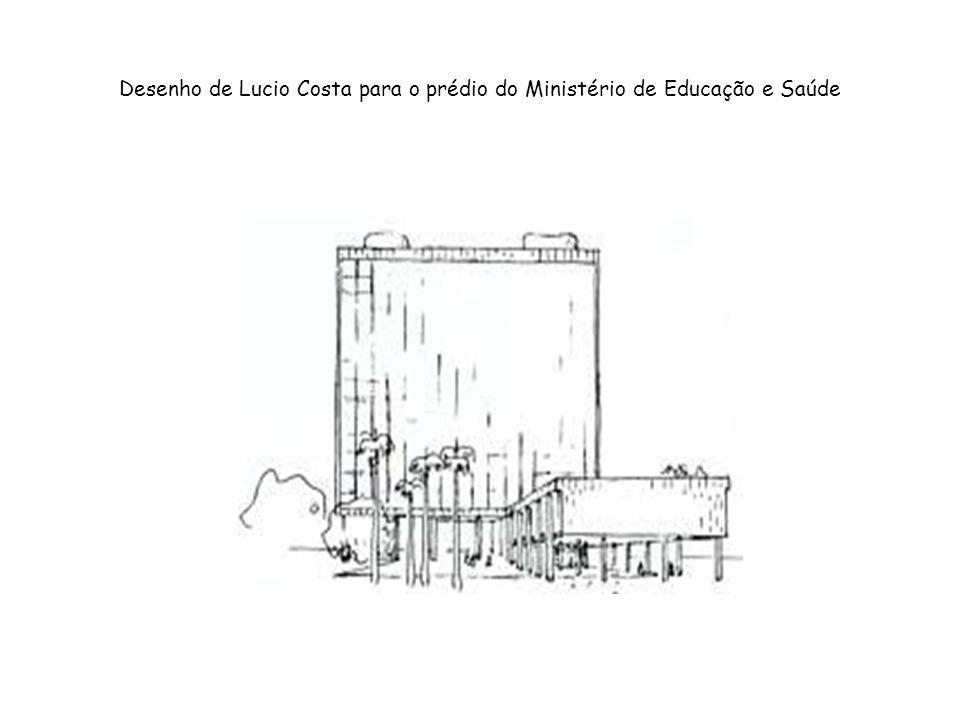 Desenho de Lucio Costa para o prédio do Ministério de Educação e Saúde