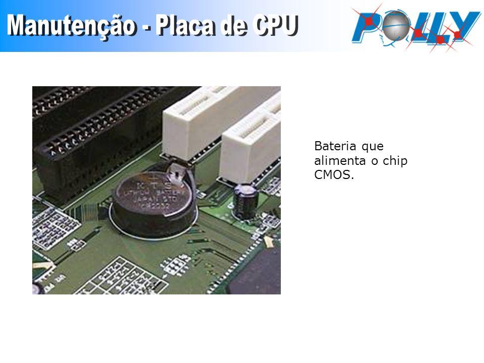 Bateria que alimenta o chip CMOS.