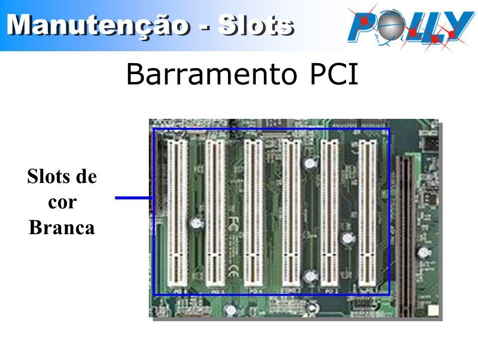 Barramento PCI Slots de cor Branca