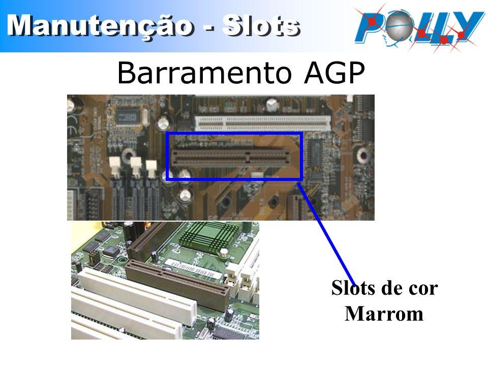 Barramento AGP Slots de cor Marrom