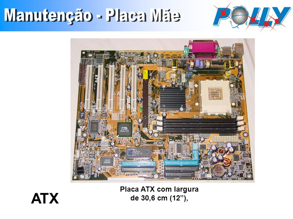 Placa ATX com largura de 30,6 cm (12), ATX