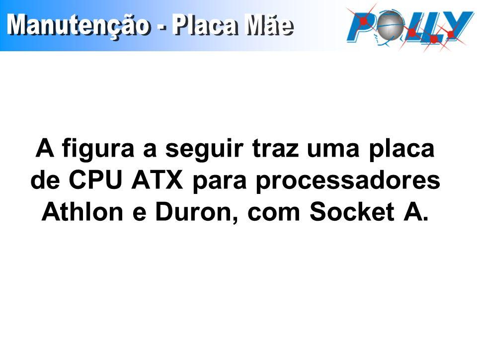 A figura a seguir traz uma placa de CPU ATX para processadores Athlon e Duron, com Socket A.