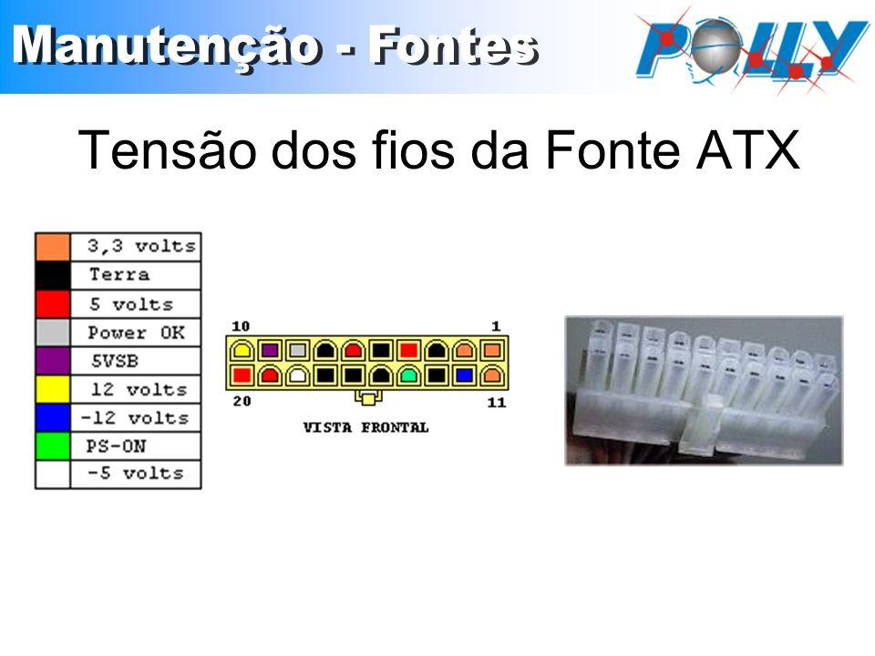 Tensão dos fios da Fonte ATX