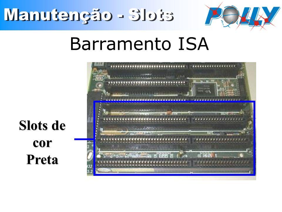 Barramento ISA Slots de cor Preta