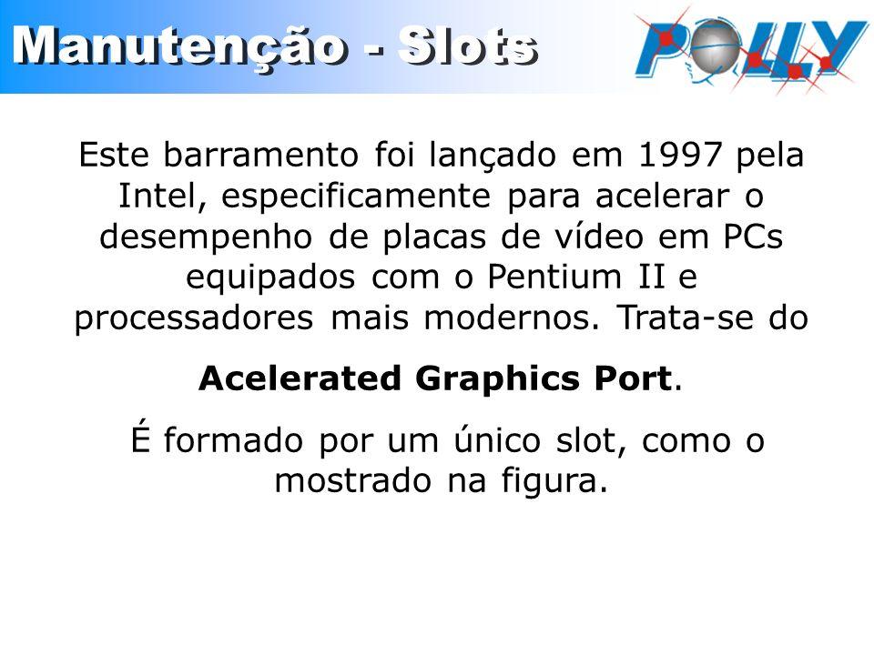Este barramento foi lançado em 1997 pela Intel, especificamente para acelerar o desempenho de placas de vídeo em PCs equipados com o Pentium II e proc