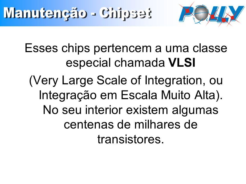 Esses chips pertencem a uma classe especial chamada VLSI (Very Large Scale of Integration, ou Integração em Escala Muito Alta). No seu interior existe