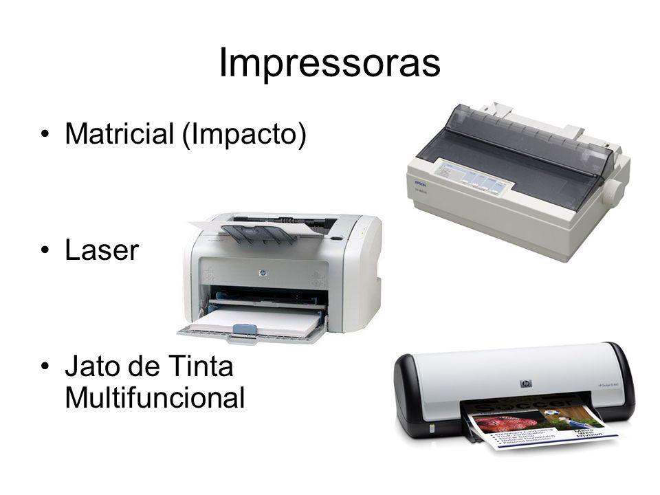 Impressoras Matricial (Impacto) Laser Jato de Tinta Multifuncional