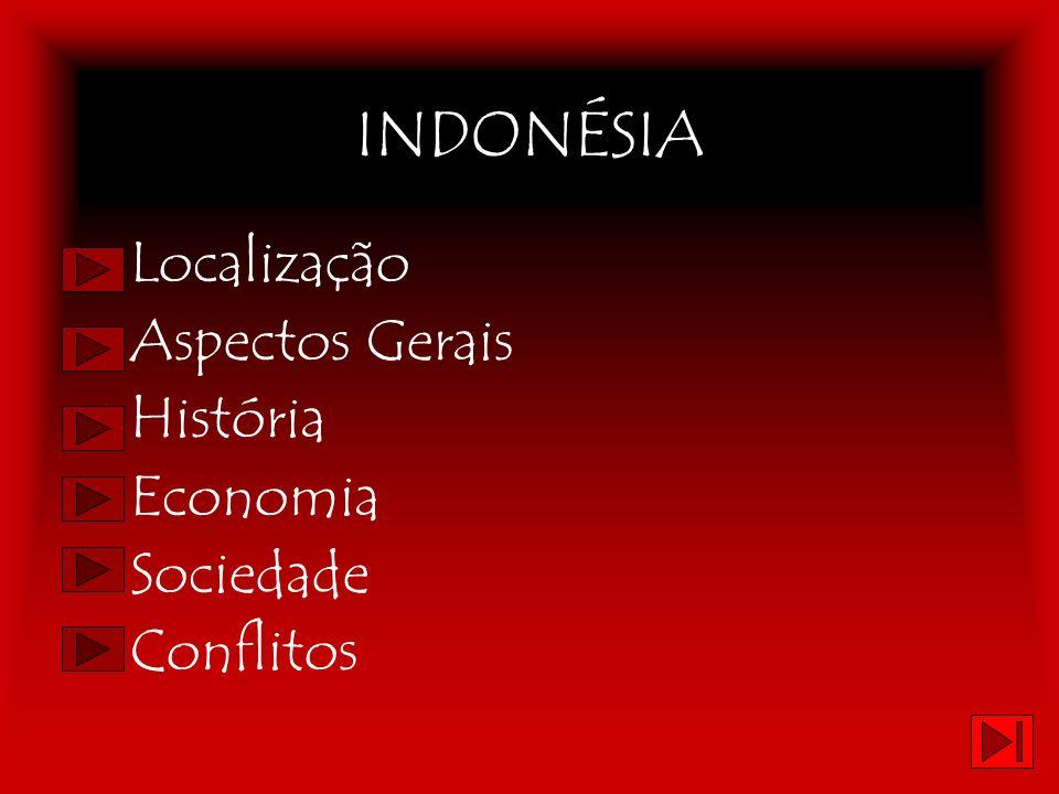 INDONÉSIA Localização Aspectos Gerais História Economia Sociedade Conflitos
