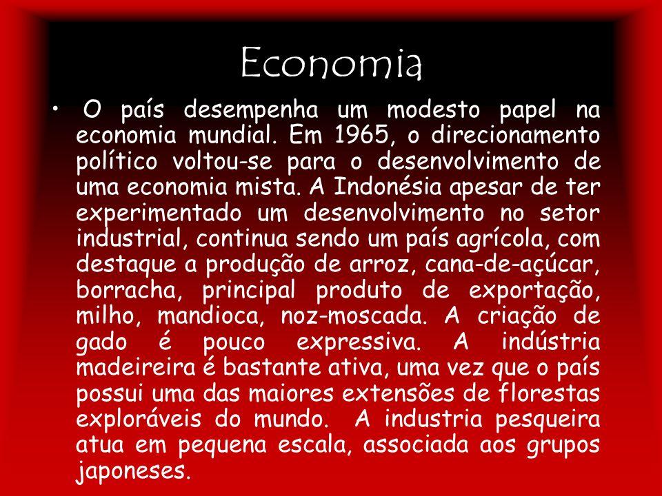 Economia O país desempenha um modesto papel na economia mundial. Em 1965, o direcionamento político voltou-se para o desenvolvimento de uma economia m