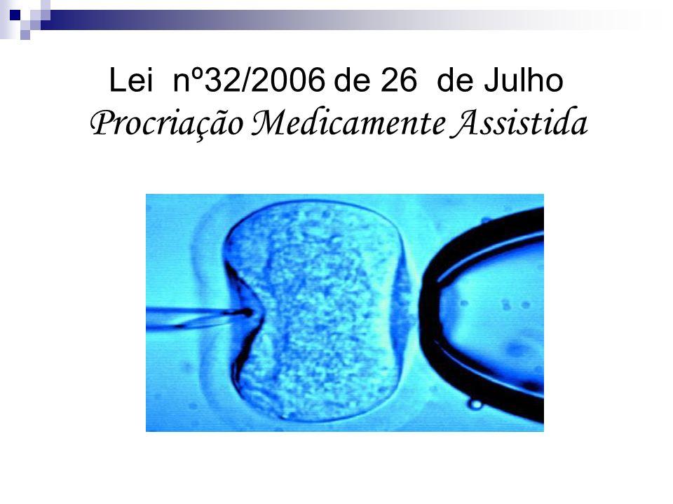 Lei nº32/2006 de 26 de Julho Procriação Medicamente Assistida