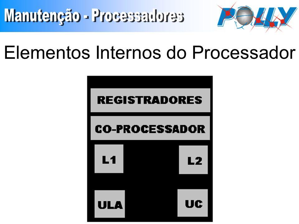 Registradores São responsável pelo armazenamento temporário de instruções e dados, que servirão de entrada ao processamento e de saídas.