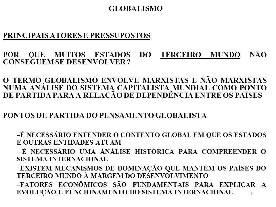 1 GLOBALISMO PRINCIPAIS ATORES E PRESSUPOSTOS POR QUE MUITOS ESTADOS DO TERCEIRO MUNDO NÃO CONSEGUEM SE DESENVOLVER ? O TERMO GLOBALISMO ENVOLVE MARXI
