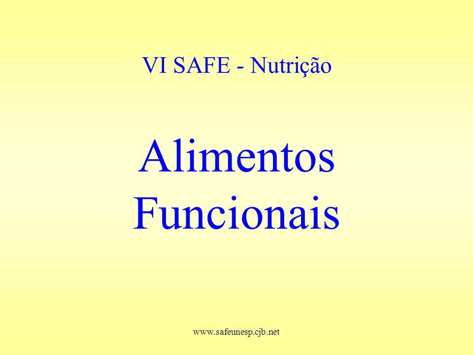 www.safeunesp.cjb.net VI SAFE - Nutrição Alimentos Funcionais