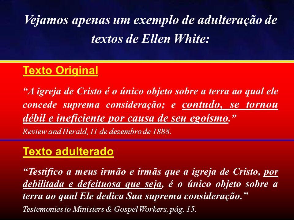 Texto Original A igreja de Cristo é o único objeto sobre a terra ao qual ele concede suprema consideração; e contudo, se tornou débil e ineficiente po