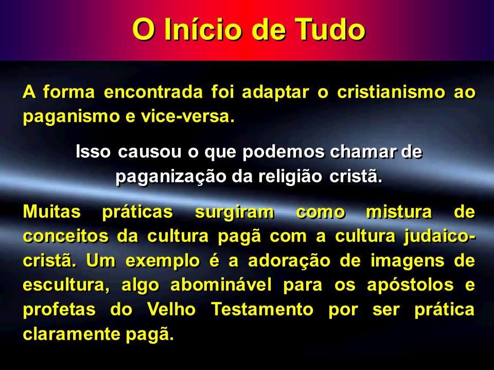 O Início de Tudo Os conceitos básicos para o estabelecimento da doutrina da trindade surgiram dentro deste contexto como forma de conciliar o culto politeísta dos pagãos com o culto cristão de adoração a um único Deus.