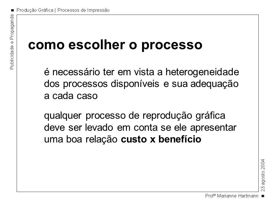 como escolher o processo é necessário ter em vista a heterogeneidade dos processos disponíveis e sua adequação a cada caso qualquer processo de reprod