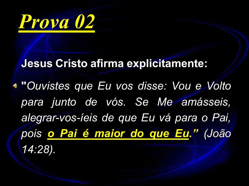 Jesus Cristo afirma explicitamente: