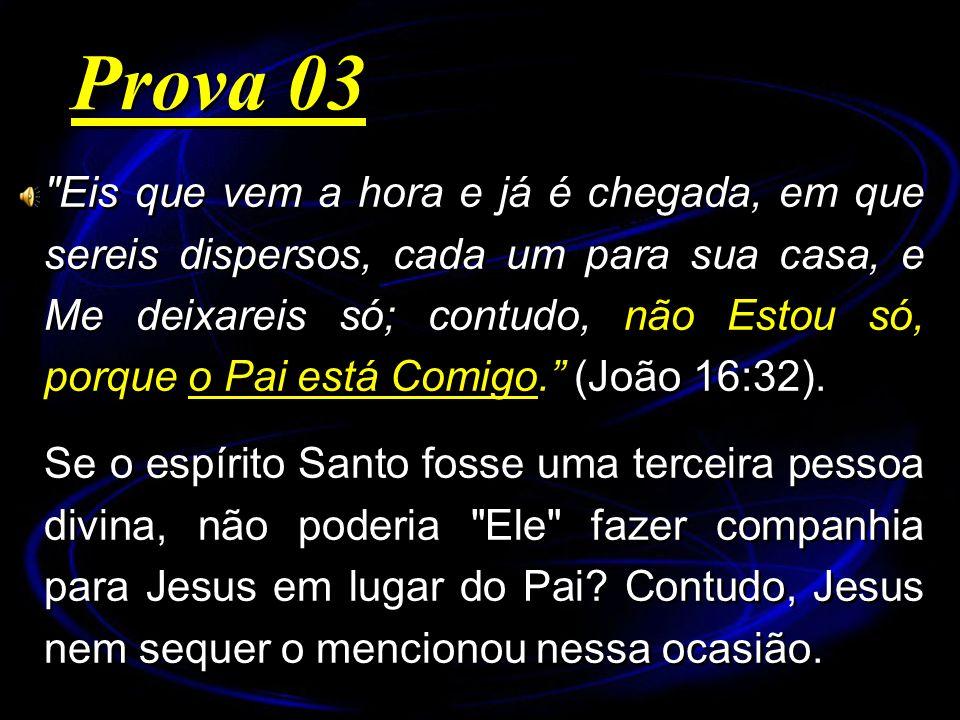 Eis que vem a hora e já é chegada, em que sereis dispersos, cada um para sua casa, e Me deixareis só; contudo, não Estou só, porque o Pai está Comigo.