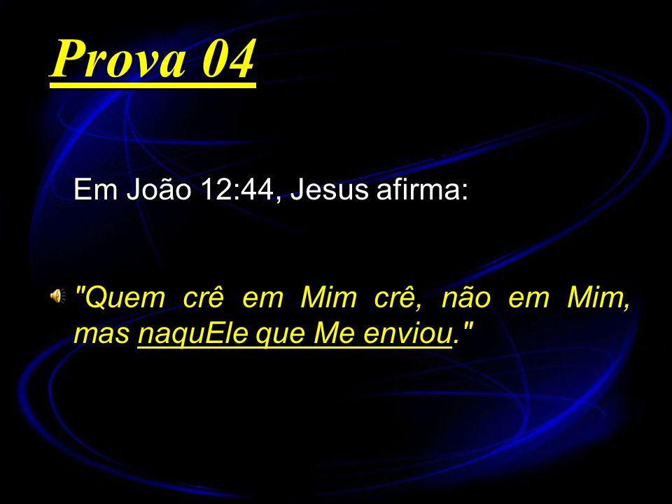 Em João 12:44, Jesus afirma: