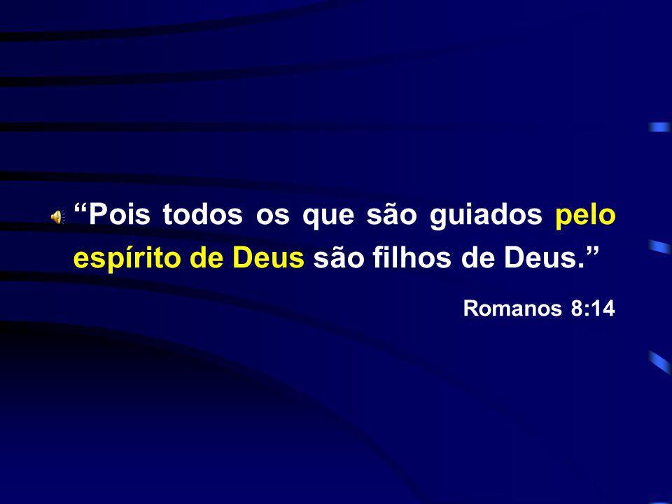 Pois todos os que são guiados pelo espírito de Deus são filhos de Deus. Romanos 8:14