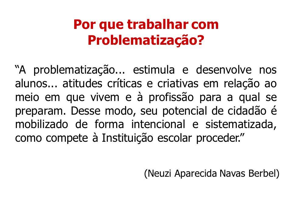 A problematização instaura a dúvida como princípio e como método de conhecimento.