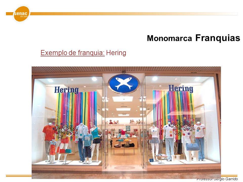 Professor Sergio Garrido Exemplo de franquia: Hering Monomarca Franquias