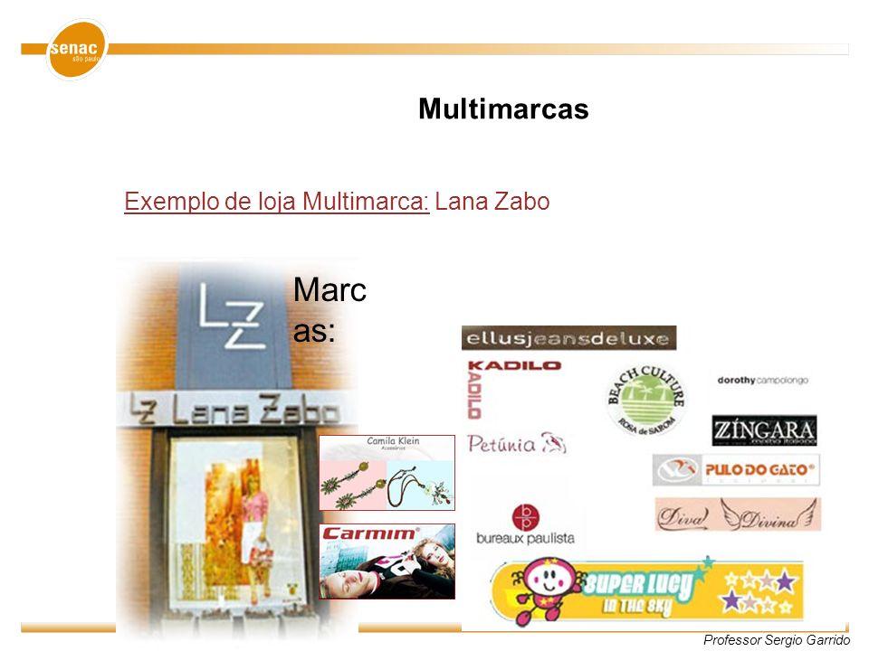 Professor Sergio Garrido Exemplo de loja Multimarca: Lana Zabo Marc as: Multimarcas