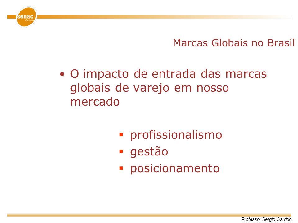 Professor Sergio Garrido Marcas Globais no Brasil O impacto de entrada das marcas globais de varejo em nosso mercado profissionalismo gestão posiciona