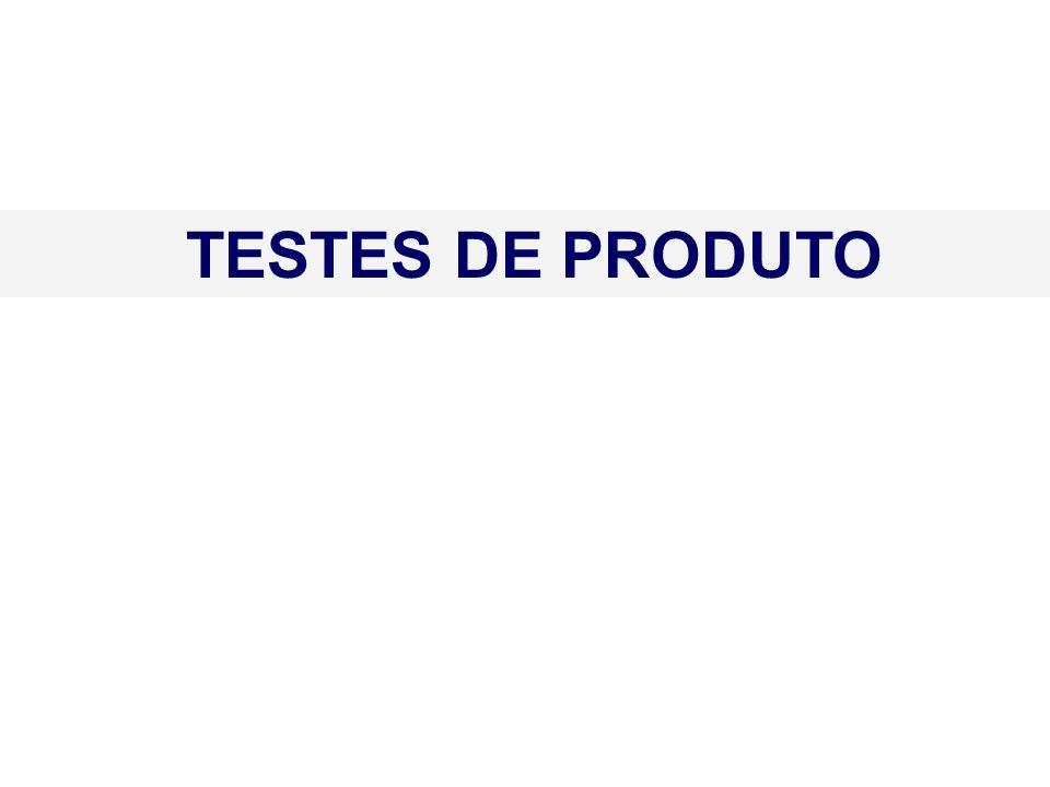 TESTES DE PRODUTO