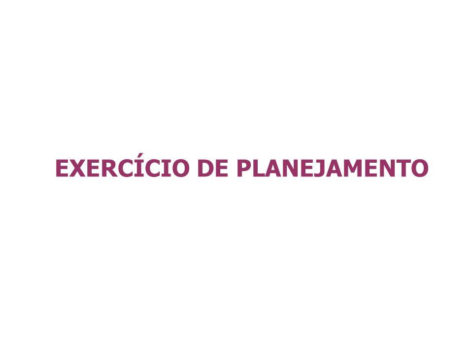 EXERCÍCIO DE PLANEJAMENTO