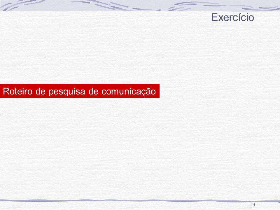 14 Exercício Roteiro de pesquisa de comunicação