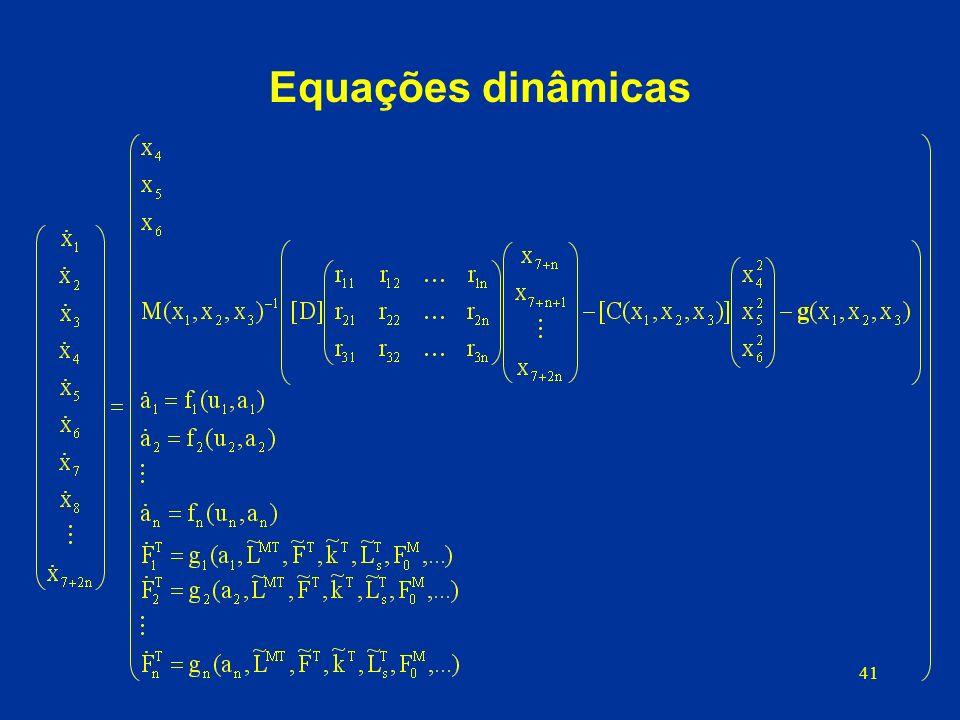 41 Equações dinâmicas d) Equações dinâmicas