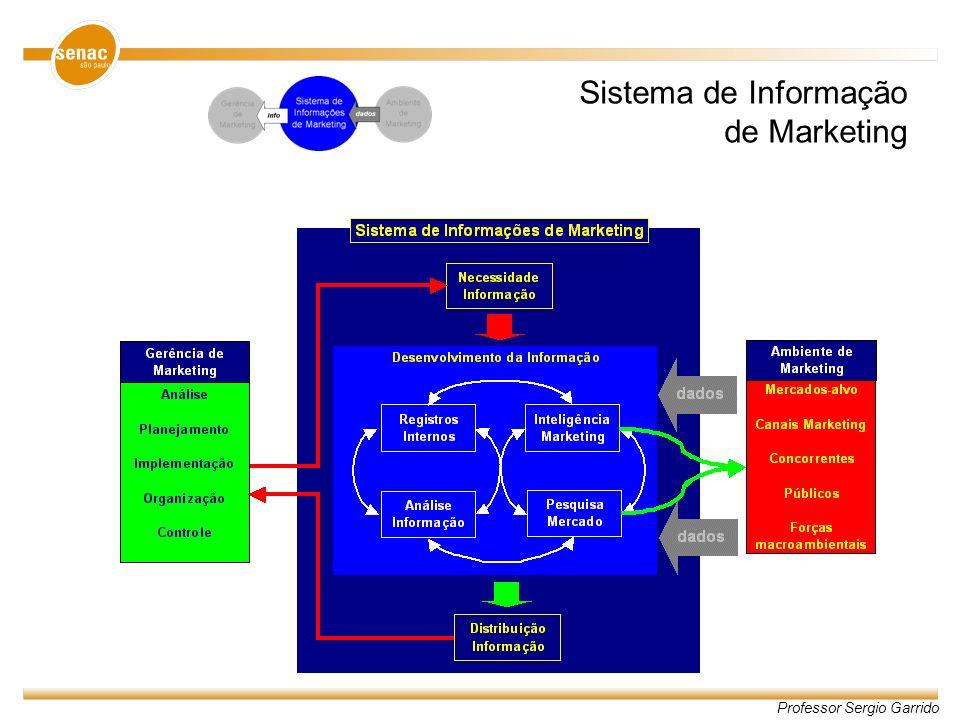 Professor Sergio Garrido Sistema de Informação de Marketing
