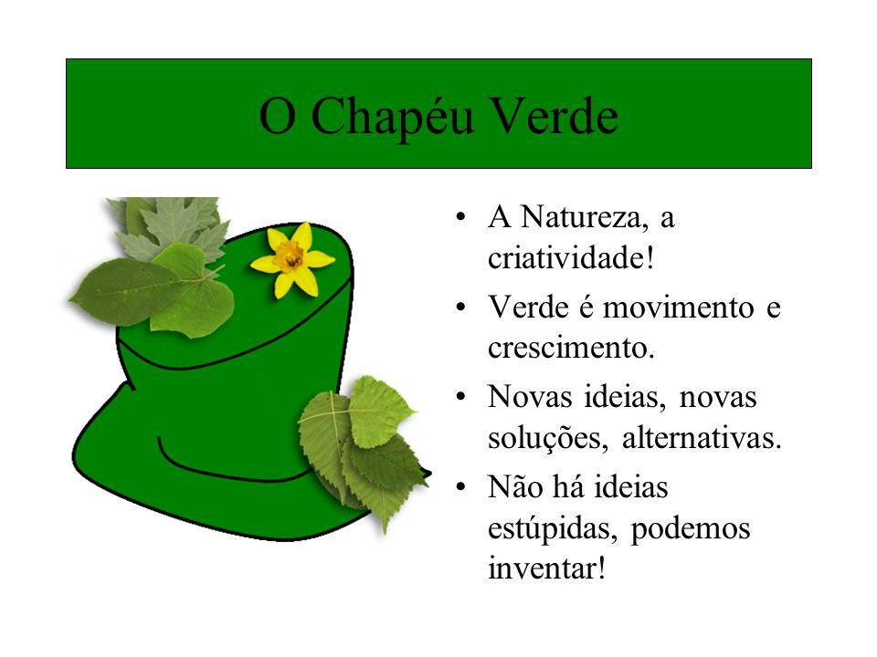A Natureza, a criatividade! Verde é movimento e crescimento. Novas ideias, novas soluções, alternativas. Não há ideias estúpidas, podemos inventar! O