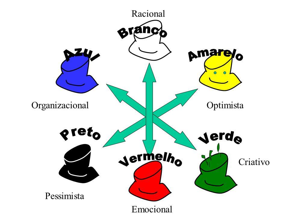 Criativo OrganizacionalOptimista Pessimista Emocional Racional