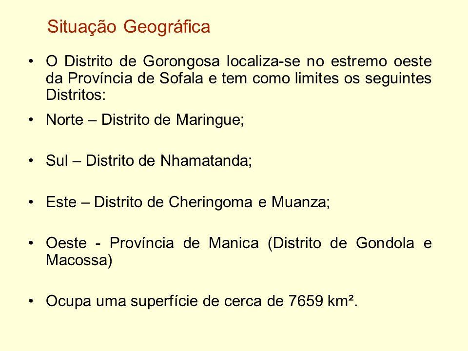 O Distrito de Gorongosa localiza-se no estremo oeste da Província de Sofala e tem como limites os seguintes Distritos: Norte – Distrito de Maringue; S