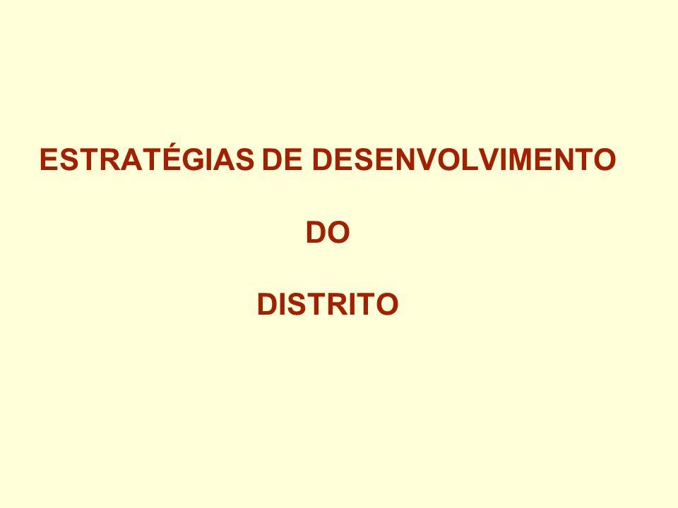 ESTRATÉGIAS DE DESENVOLVIMENTO DO DISTRITO