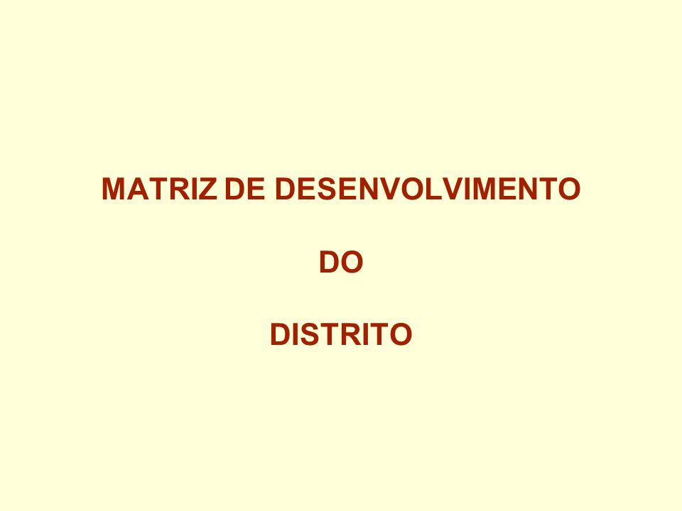 MATRIZ DE DESENVOLVIMENTO DO DISTRITO