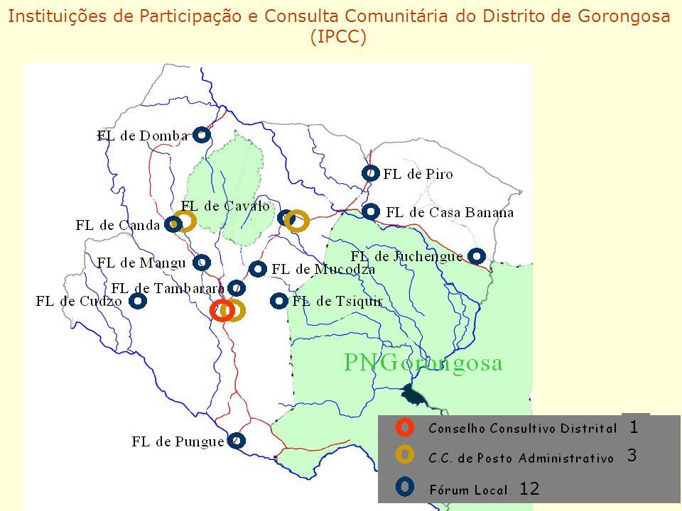 Instituições de Participação e Consulta Comunitária do Distrito de Gorongosa (IPCC) 1 3 12