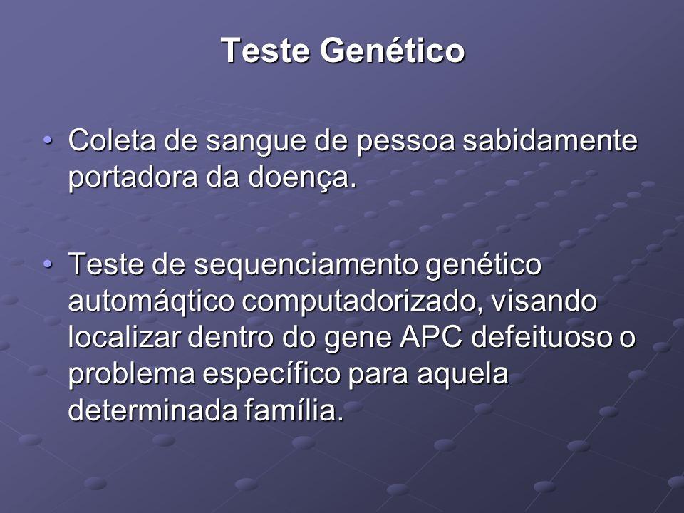 Teste Genético Coleta de sangue de pessoa sabidamente portadora da doença.Coleta de sangue de pessoa sabidamente portadora da doença. Teste de sequenc