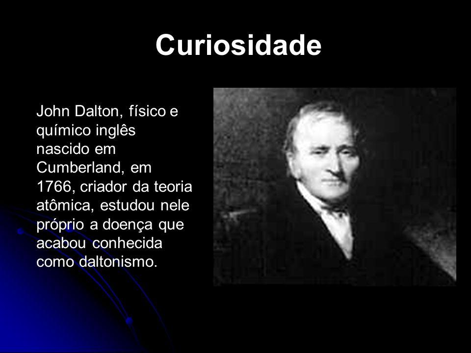 John Dalton, físico e químico inglês nascido em Cumberland, em 1766, criador da teoria atômica, estudou nele próprio a doença que acabou conhecida com