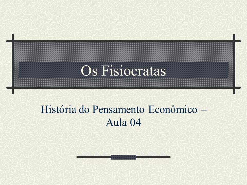 Os Fisiocratas História do Pensamento Econômico – Aula 04