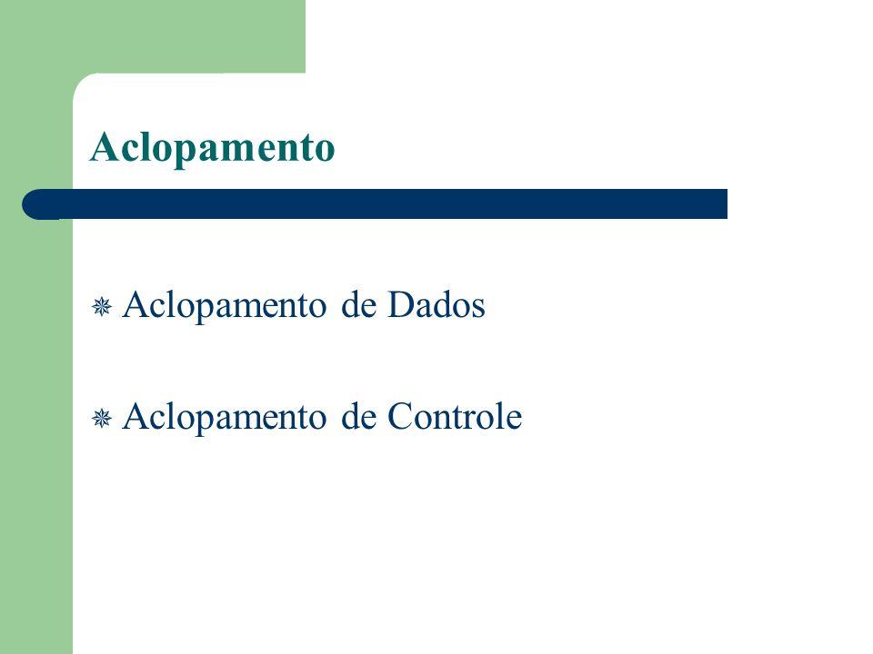 Aclopamento Aclopamento de Dados Aclopamento de Controle